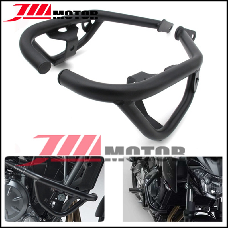 Black Motorcycle High Quality Steel Crash Bars Frame Protector Protection  Guard For Kawasaki Z650 Z 650 2017-in Covers & Ornamental Mouldings from