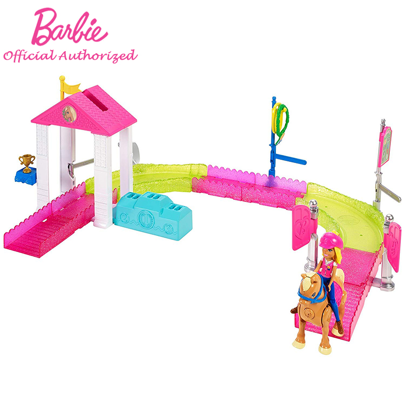 Mode Barbie poupée jouet lavage de voiture jeu Set poste bureau transporteur cheval voiture accessoires jouet barbie fille pour enfants cadeau d'anniversaire