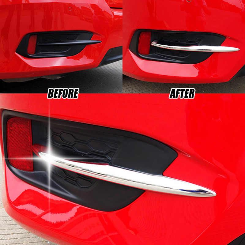 For Honda Civic 16 2017 2018 Sedan Chrome Front Fog Light Lamp Eyelid Cover Trim