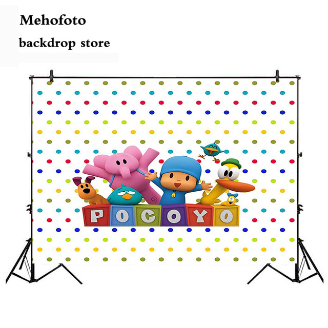 Vinyl Photography Backdrop Cartoon Characters Pocoyo Birthday Party Baby Shower Children Photo Backdgrounds for Studio 865