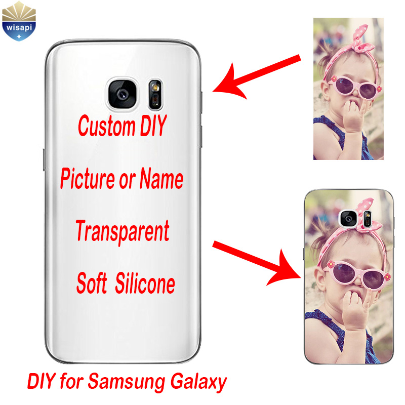 Diy custom cases for samsung galaxy s7 g9300 transparent for Diy custom phone case