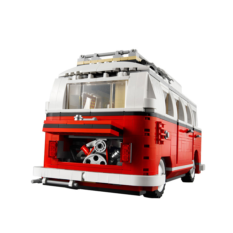 Diy Classical The T1 CamperVan Car Model Building Blocks Kits Compatible With Legoingly 10220 Toys For kid Brinthday gift