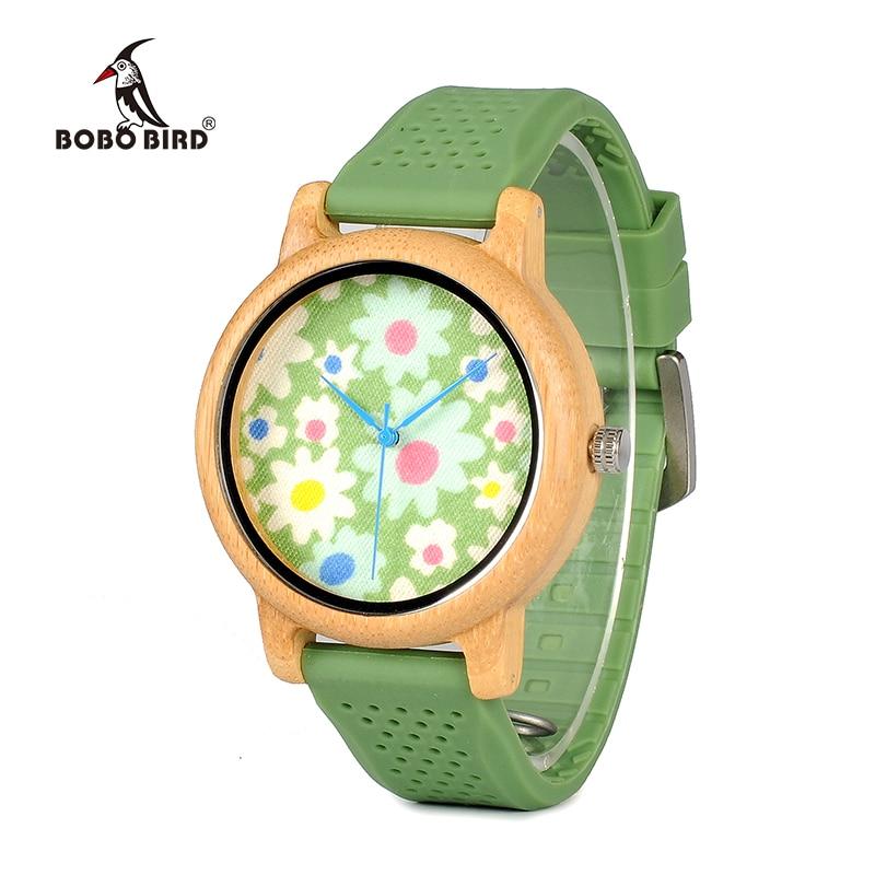 Bobo Vogel Wb04 Fashion Kausal Bambus Uhr Mit Stoff Zifferblatt