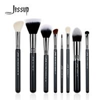 Jessup 8Pcs High Quality Pro Makeup Brush Set Kabuki Foundation Blend Duo Fibre Contour Shader Powder