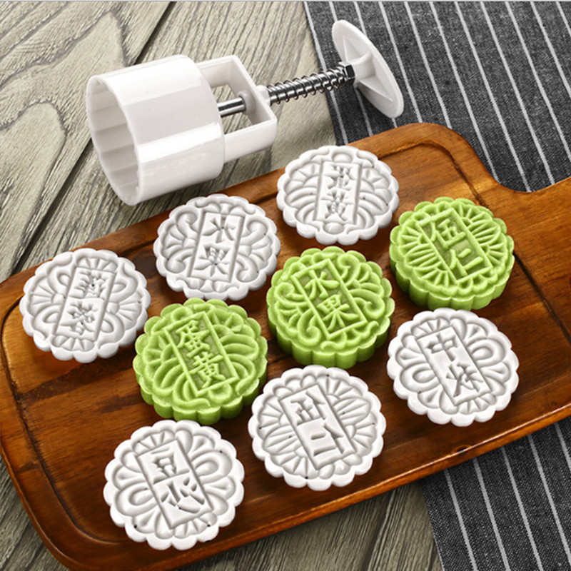 Creative MoonCake Biscuit Mold Mould Flower Tool DIY Decora with Hand SMART