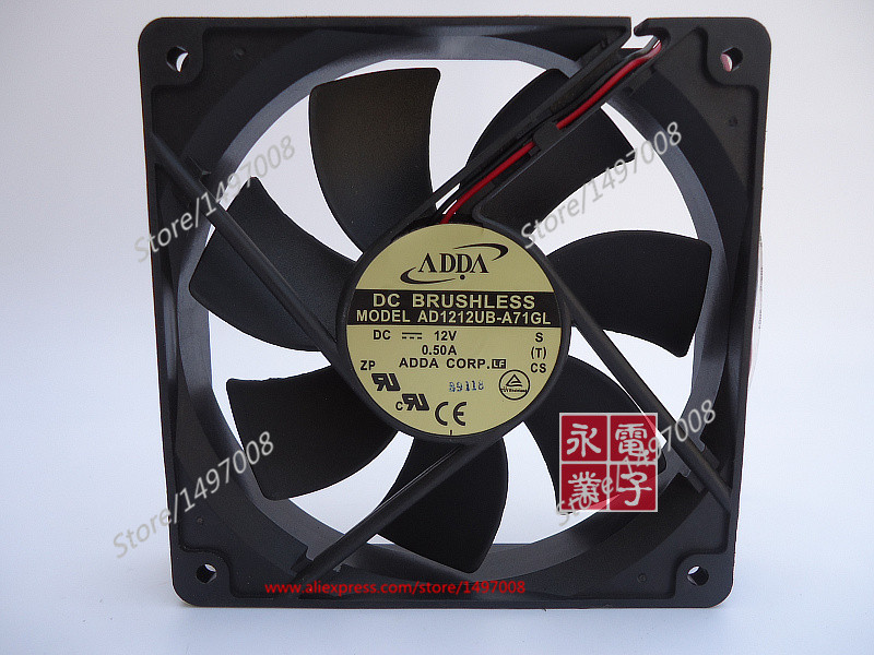 ADDA AD1212UB-A71GL S DC 12V 0.50A , 120X120X25mm Server Square fan