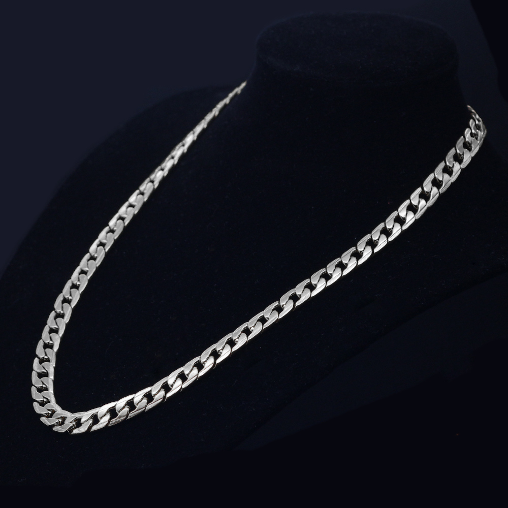 SAYYID Jewelry New Design 60cm Necklace for Women 39 s Gold Silver Rose Gold Black 4 colors Trendy Necklace Jewelry Stock in Chain Necklaces from Jewelry amp Accessories