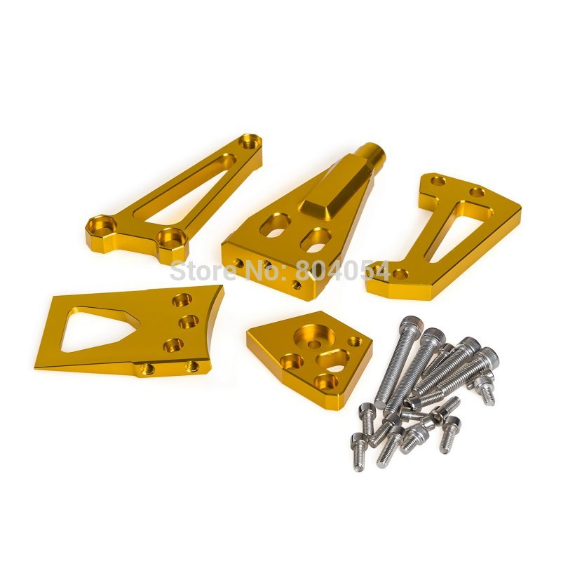 New 1 Set Steering Damper Mounting Kit For Kawasaki Ninja650R ER-6N ER-6F 09-11 ER-4N ER-4F 11-14 Gold Supplies