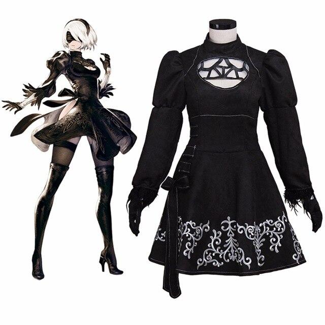 NieR: Automata YoRHa No.2 Type B Uniforms Women Dress Nier Cosplay Costume
