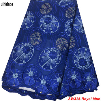 Hot Sale Nigeria Cotton lace fabric trim High Quality swiss voile lace in switzerland African Lace Fabric For Man Women SW-325