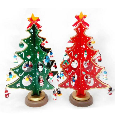 Diy Wooden Christmas Tree Christmas Decorations Creative Christmas Tree Tabletop Decoration In Pendant Drop Ornaments From Home Garden On