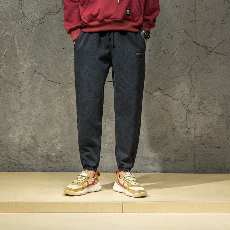 Nuovo Casual Jeans Grandi Uomini Vestiti Cowboy Dei Degli blue Da Stile  Giapponese Pantaloni Hop Streetwear Marea Dimensioni Cotone Black Maschio  ... bebb869d7045