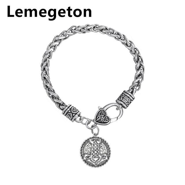 grosses soldes vente en ligne les plus récents € 4.29 5% de réduction|Collier à breloques marteau Lemegeton Thor  mythologie nordique Bracelets religieux fermoir à homard bijoux à breloques  en métal ...