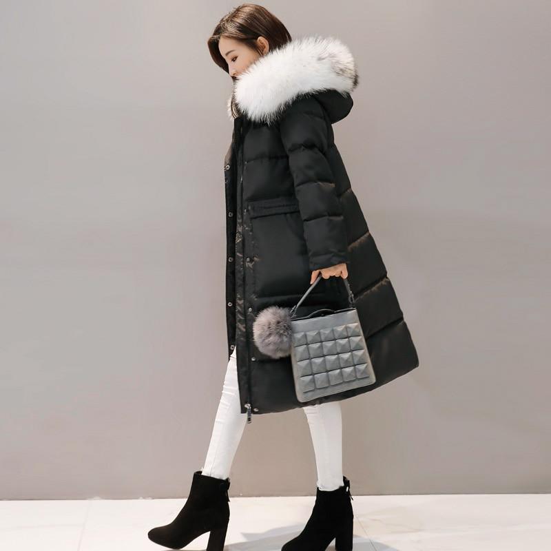 Le Blanc Veste Longue Pure Mince Couleur grey Ok1106 Bas Black D'hiver Capuche Fourrure À Manteau Vers Canard Survêtement Femmes Nouvelle Femme Parka Doudoune 6xvqT4T