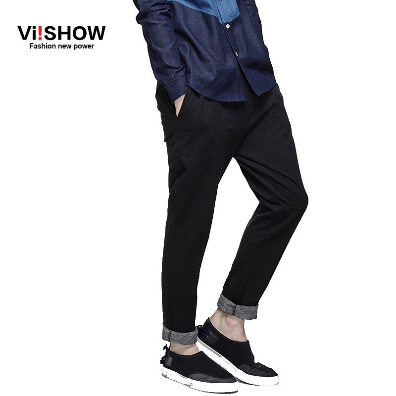 Viishow Brand clothing Mens casual pants Big Size Trousers Man Slim Fit Cotton Trousers Fitness Sweat Pants Men Oversize S-3XL
