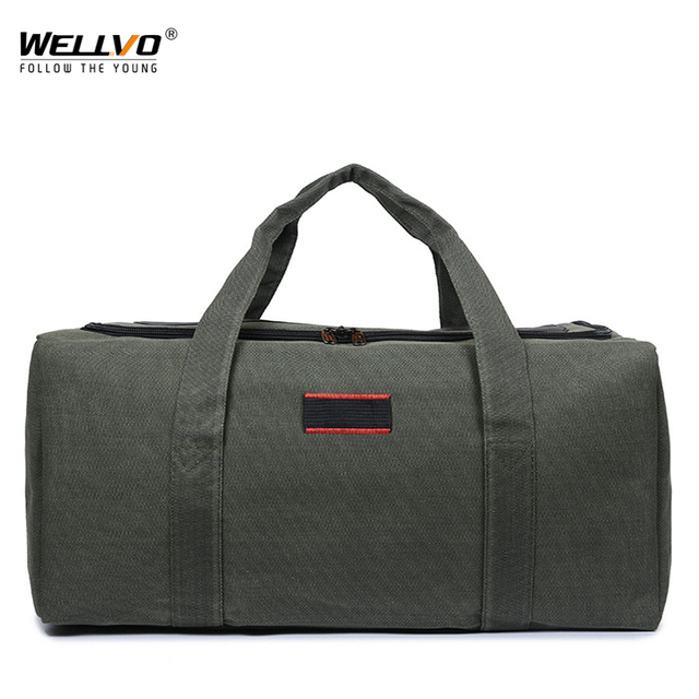c2a9550c47 Canvas Men Travel Bag Carry on Luggage Duffel Bags Casual Large Tote  Patchwork Weekend Crossbody Bag