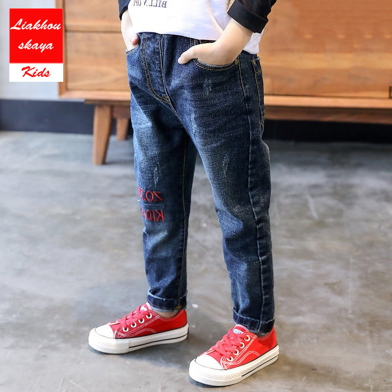 Liakhouskaya Jeans Ripped Teenagers Boys Broken-Hole Casual New-Fashion for Spring Summer