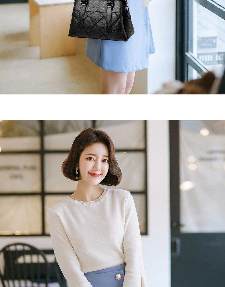 Women Bag 2019 New Women Messenger Bags Fashion Pu Leather Shoulder Bags Handbags Famous Brands, Big Crossbody Bags For Women 12