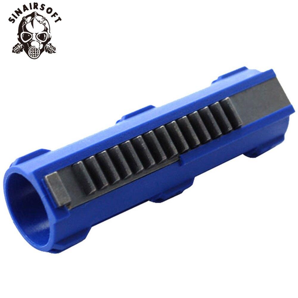 SINAIRSOFT SHS azul fibra reforzado acero lleno 14 dientes de pistón para Airsoft M4 AK G36 MP5 caja de engranajes Ver 2/3 AEG accesorios