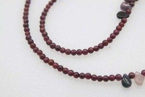 Ожерелье с красным гранатом, круглый турмалин, 3 мм, 18 дюймов, FPPJ, опт, натуральный синий кролик