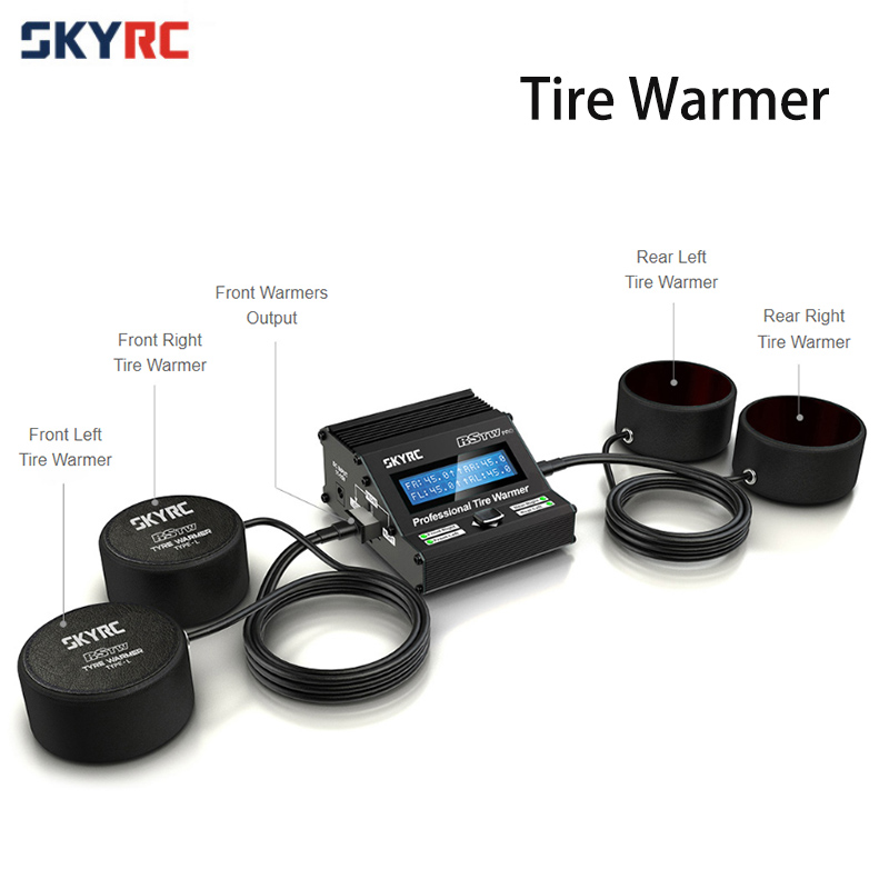 Original SKYRC Professional Tire Warmer Electronic MCU RSTW Temperature Controlled for 1 10 RC Racing Touring