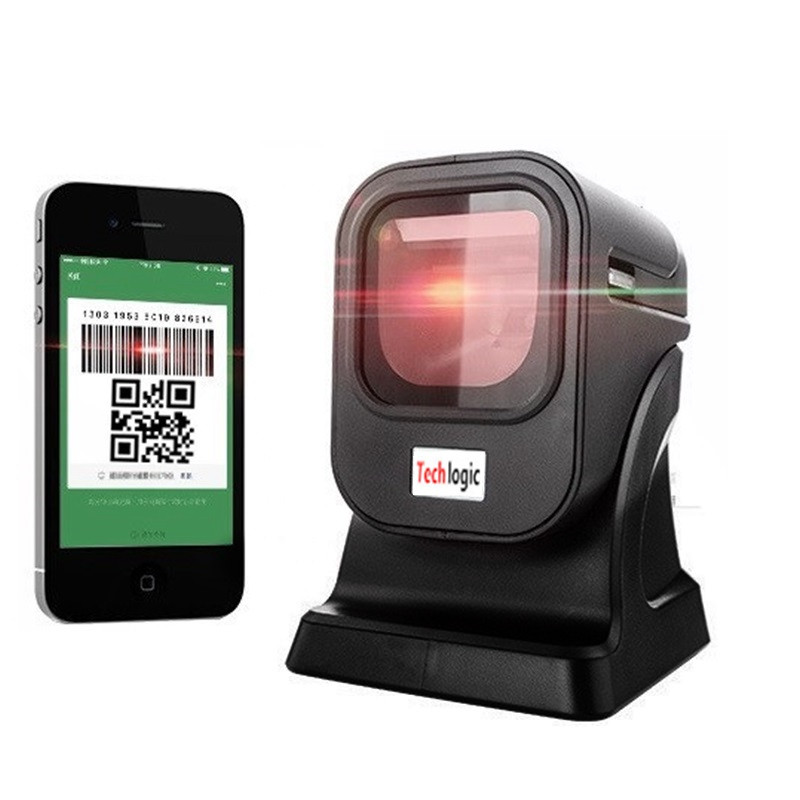 2D Scanner Platform Omnidirectional Bar Code Scanner 2D QR PDF417 Datametrix Barcode Reader for Supermarket Store