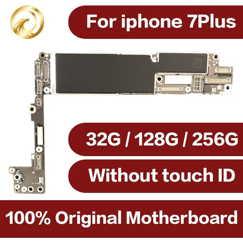 100% оригинал открыл для iphone 7 плюс материнская плата без Touch ID, для iphone 7 плюс материнская плата с чипы, 32 ГБ/128 ГБ/256 ГБ