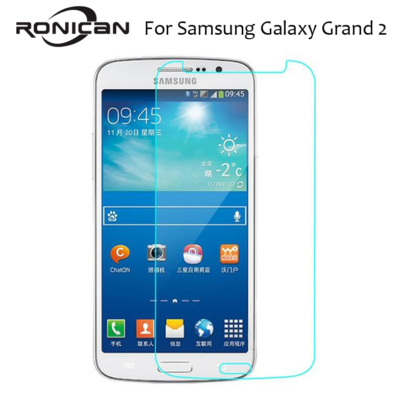 Explosion Proof Premium Tempered Glass for Samsung Galaxy Grand 2 Screen Protector G7102 G7106 G7108 Protective Glass Film Guard-in Phone Screen Protectors from Cellphones & Telecommunications