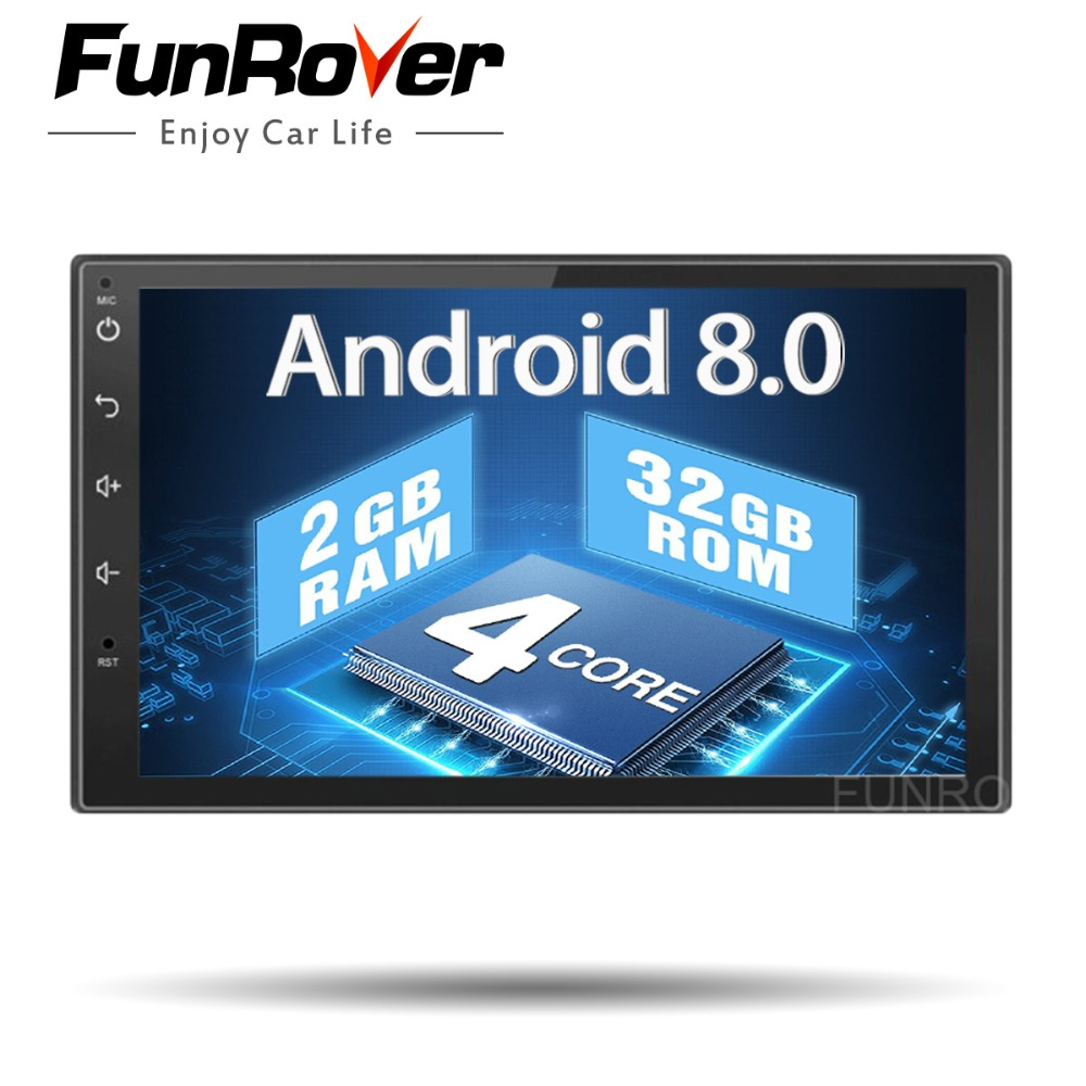 Quad core 2 din android 8.0 Universal Car Multimedia Player Car Radio Dvd Player Stereo 2g+32g 7 Inch Autoradio Gps Navigation все цены