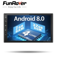 Quad core 2 din android 8.0 Universal Car Multimedia Player Car Radio Dvd Player Stereo 2g+32g 7 Inch Autoradio Gps Navigation