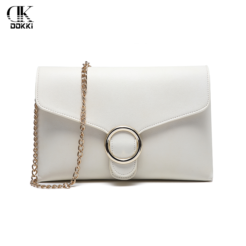 99b47e492fc Detail Feedback Questions about DOKKI Women s Shoulder Clutch Bags White Chain  PU leather off White Messenger Designer Handbag Fashion Solid High Quality  ...