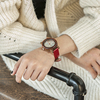 Women Wood Watch PU Strap Wristwatches Female  2