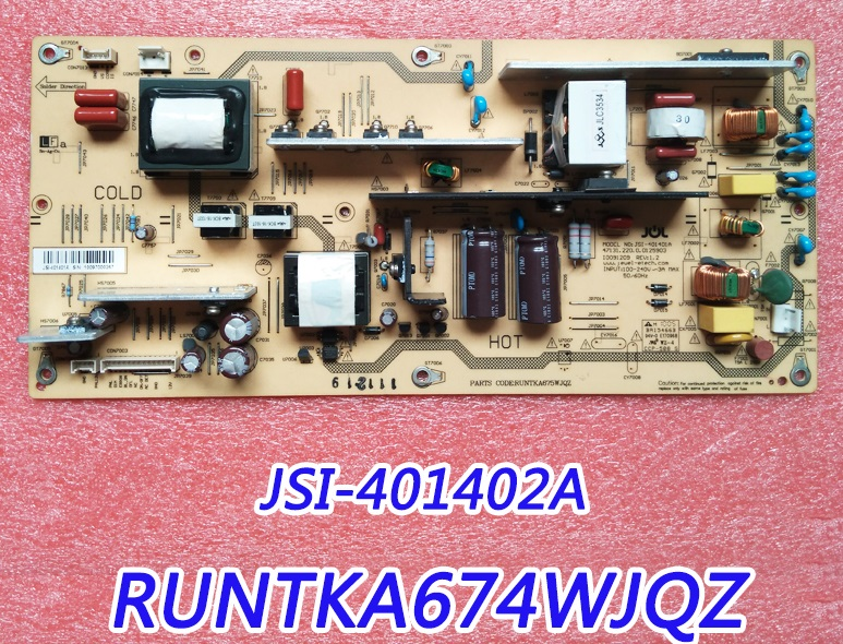JSI-401402A RUNTKA674WJQZ Power Board Tested original lcd 40z120a runtka720wjqz jsi 401403a almost new used disassemble