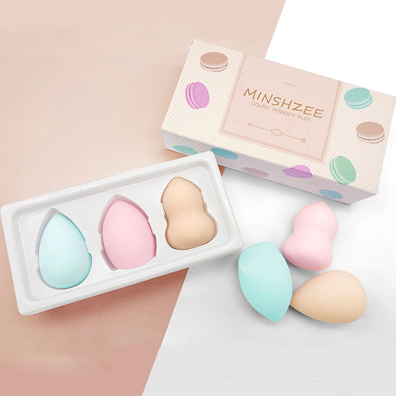 Professional 3pcs/Set Soft Beauty Makeup Sponge Smooth Cosmetic Puff 3 Colors Multi-shape