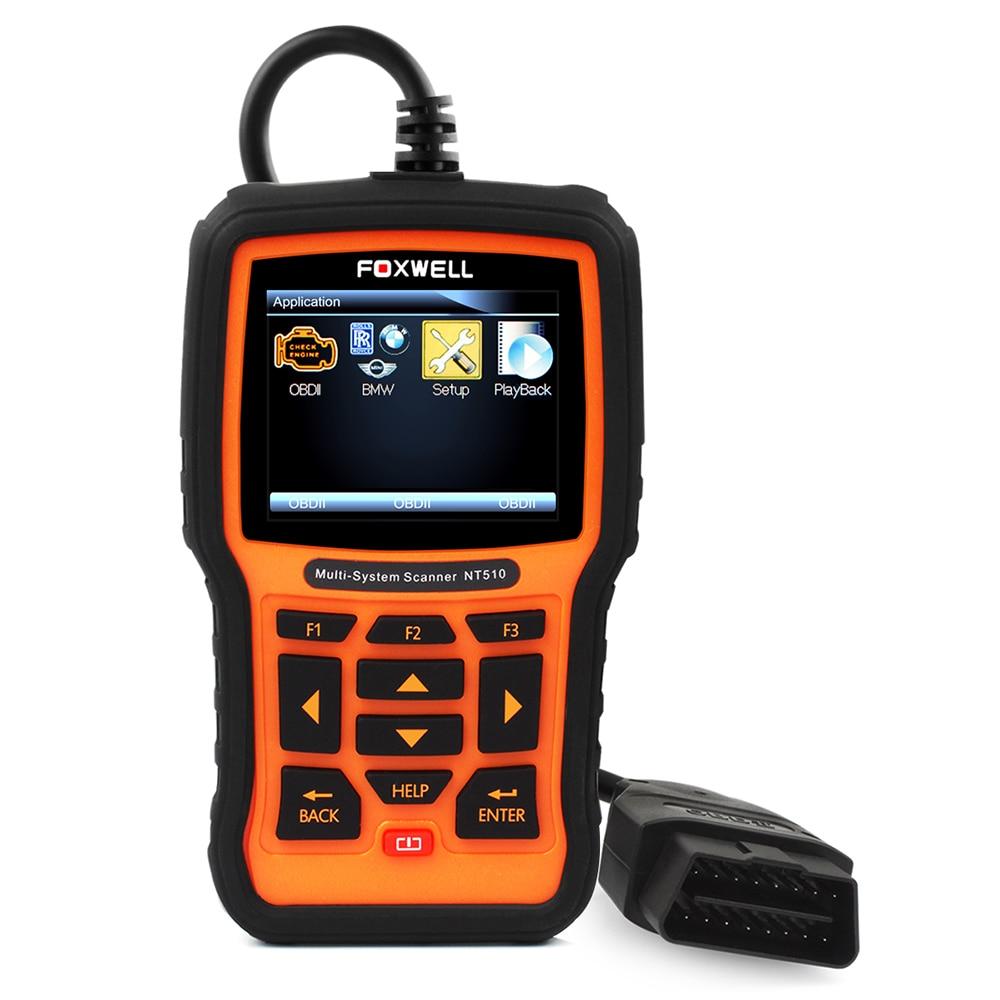 Цена за Foxwell NT510 полный Системы автомобильный диагностический инструмент ABS SRS аварии подушки безопасности данных SAS EPB масла Услуги сброса для Nissan BMW gml VAG