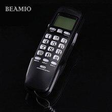 Мини настенный фиксированный Телефонный Вызов ID повторный набор дель отеля Ванная комната дома Бизнес офис телефонной линии phone home черный