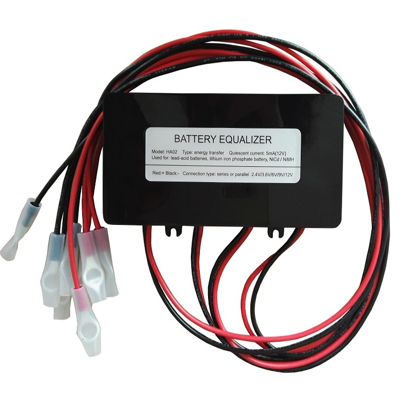 HA02 battery equalizer voltage equalizer balancer for 4 X 6V  4 X 12V lead acid battery 4 X 3.7V Lithium battery system-in Battery Accessories from Consumer Electronics    1