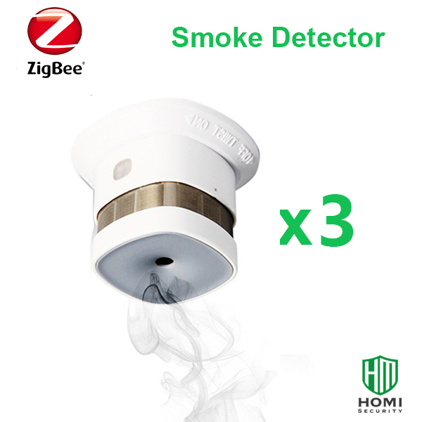 Reddot Reworded Smoke Detector Compatible With KAKU, Home Assistant,Deconz,Conbee Zigbee Hubs 3pc  Zigbee Fire Smoke Sensors