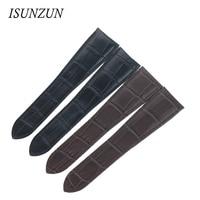 ISUNZUN Watch Band For Cartier W7100037/W7100041 Genuine Leather Watch Strap For Men And Women Leather Watchband Free Shipping