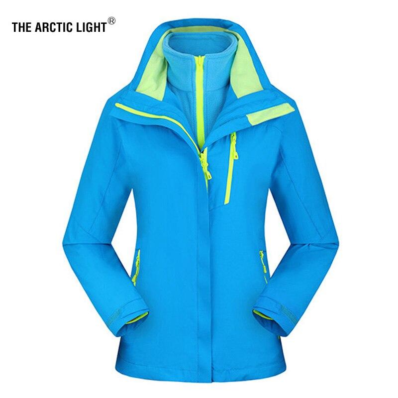 La lumière arctique nouveau femmes vestes de ski en plein air randonnée Trekking chaud Snowboard manteau imperméable neige veste Sportswear hiver XXXL