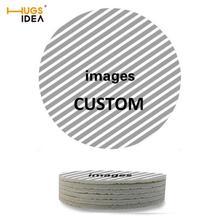 Hugsiera 6 unids/lote imagen personalizada manteles individuales simples y creativos posavasos para taza Mat resistente al calor taza para beber café posavasos