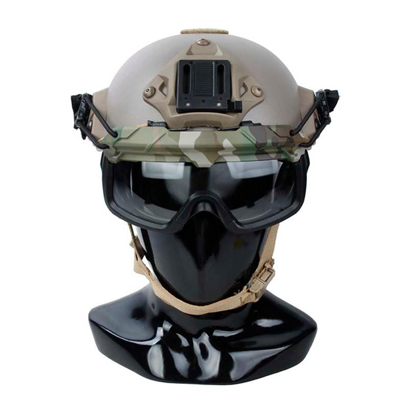 Tactical SF Helmet QD Anti Fog Goggles Wind Dust Protection Glasses for Helmet