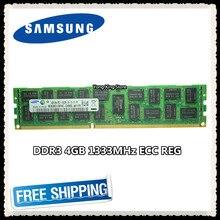 Samsung DDR3 4 GB 8 GB sunucu belleği 1333 MHz ECC REG DDR3 PC3-10600R Kayıt RAM 10600 4G RDIMM x58 X79 anakart kullanımı