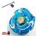 1 unids Beyblade Metal Fusion 4D establece Ultimate Meteo L-drago Precipitación azul Dragón BB-98 niños juguete de regalo de Navidad con el lanzador