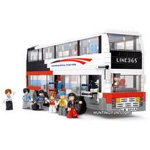 Fit City Series People Pack Luxury Double-decker Bus Set With Figures Educational Building Blocks Toy for Children Gift недорого