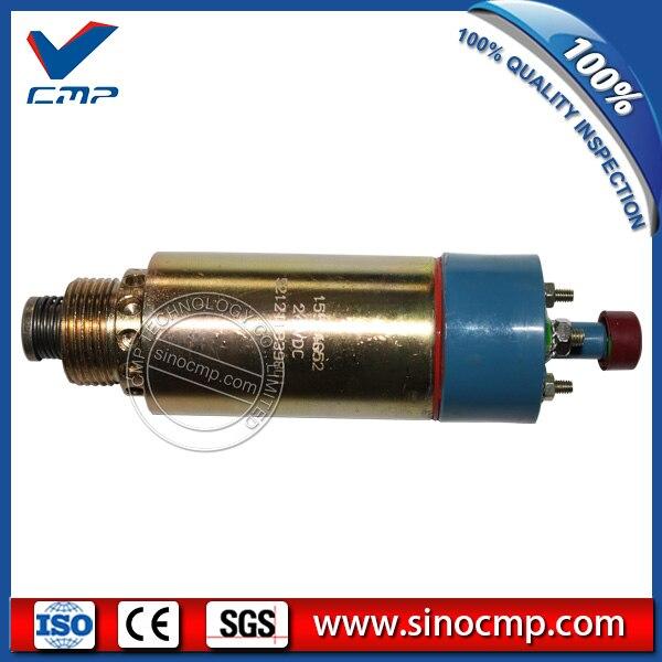 CMP 24v excavator fuel stop shutdown shutoff flameout solenoid 8C-3663 cmp stop solenoid valve 3935650 for cummins excavator