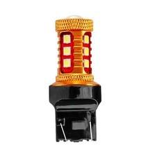 1 pièces T20 W21/5W 7443 Double chaîne 15 SMD 3030 LED Auto Parking lampe arrière frein ampoules voiture diurne lumière rouge blanc jaune