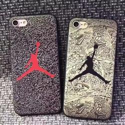 sFor iPhone 8 Plus Case iPhone XS Jordan Phone Case For iPhone 6 6s 7 Plus iPhone X XR XS Max  Matte Soft TPU Silicone Cover 3