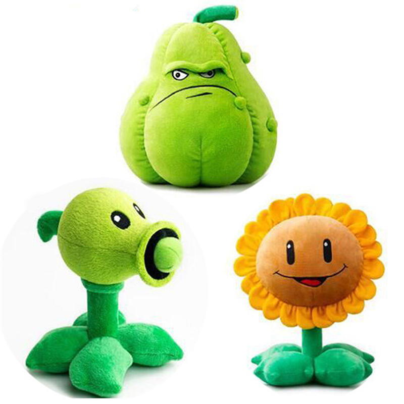 30cm Plants Vs Zombies Plush Toys PVZ Plants Peashooter Squash Sunflower Plush Stuffed Toys Doll Gifts For Kids Children