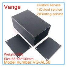 2 шт./лот алюминиевая коробка для пескоструйной обработки 6063-T5 алюминиевая коробка для инструментов 66*46*100 мм для отслеживающего устройства